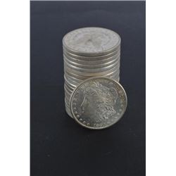 20 Morgan Silver Dollars 1880 to 1921