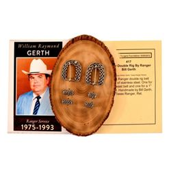Texas Ranger Bill Gerth Made Buckle Set