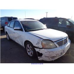 2005 - FORD FIVE HUNDRED//SALVAGE TITLE