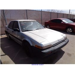 1986 - HONDA ACCORD