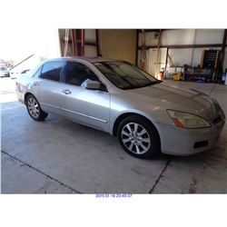 2007 - HONDA ACCORD EX // SALVAGE TITLE