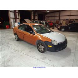 2005 - DODGE NEON // SALVAGE