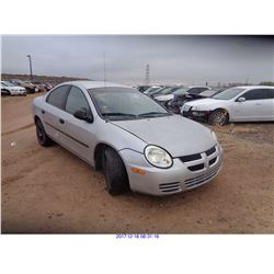 2003 - DODGE NEON // SALVAGE