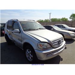 2003 - MERCEDES BENZ ML350