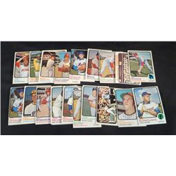 1973 OPC/Topps Baseball Cards Lot Of 24