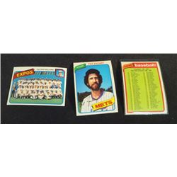 1980 OPC Baseball Cards Lot Of 3