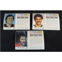 1983-84 Esso Cards Lot Of 3 Larry Robinson
