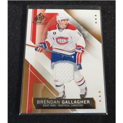 15-16 SP Game Used Copper Jersey Brendan Gallagher