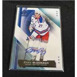 15-16 SP Game Used Autographs Blue Ryan McDonagh