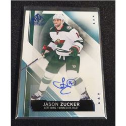 15-16 SP Game Used Autographs Blue Jason Zucker