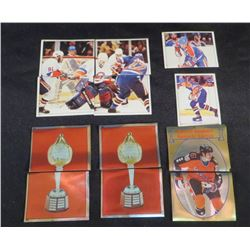 1983 Lot Of 14 Wayne Gretzky & Oilers OPC Stickers
