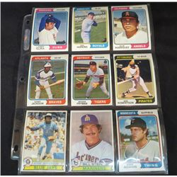 1974 Topps/OPC Baseball Lot Of 9 Cards