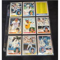 1983 OPC Baseball Lot Of 9 Cards