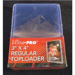 "Ultra Pro 3""x4"" Regular Top Loaders Pack Of 25"