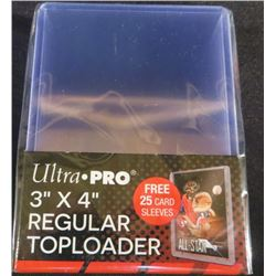 "Ultra Pro 3""x4"" Regular 25 Top Loaders With"