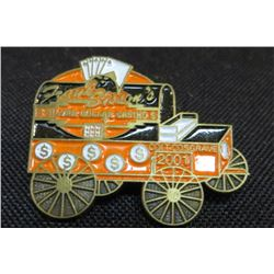 Frank Sisson  Silver Dollar Casino Chuck Wagon Pin