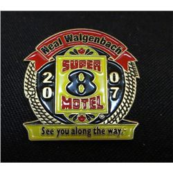 Super 8 Motel Neal Walgenbach 2007 Collector Pin
