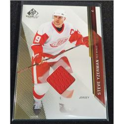 14-15 SP Game Used Gold Jerseys #67 Steve Yzerman