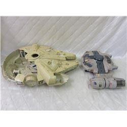 1979 Millennium Falcon and 1990s B Wing