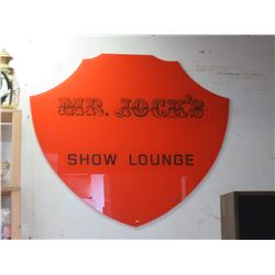 Mr Jock's Show Lounge Sign