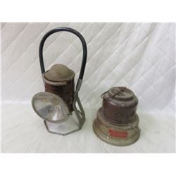 Vintage Heater and Train Lantern