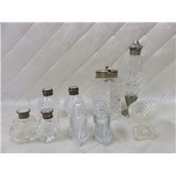 Salt & Pepper Shakers + other Vintage Glass