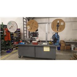 Complete Wire Stripping Station and Automatic Wire Connector Application Machines Mounted on Heavey