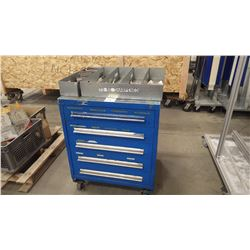 Heavey Duty 5 Drawer Work Cabinet on Wheels with all Tooling And Parts
