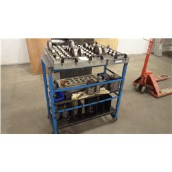 Heavey Duty Work Cart On Casters with With All Tooling And Parts As Pictured