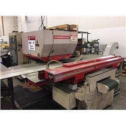 1990 Murata Wiedemann Centrum 2000 Q 22 Ton Punch With Turbo Conveyor and Roller Support Tables.