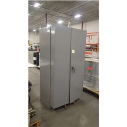 Double Door Steel Cabinet With All Parts As Pictured