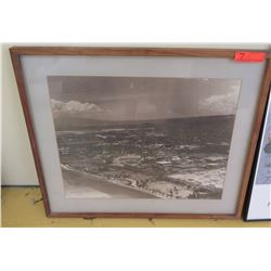 Framed Art:  Aerial Photoraph, 30 X 25.5, Plexiglass