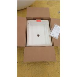 "Kohler Rectangular Sink, Unused, 20"" X 15.5"" X 7"" H"