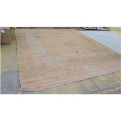 "Area Rug, Natural Fiber, Approx 145"" X 178"", Shows signs of wear, discoloration, no holes"