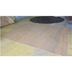 "Area Rug: Natural Fiber, Approx. 12ft X 177"", Shows General Wear and Tear (no rips or holes)"