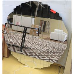 "Multi-Paned Mirror, 43"" X 45.5"""