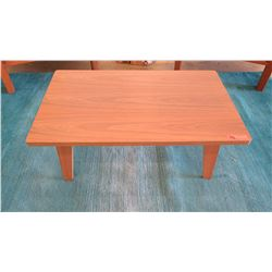 "Small Wooden Coffee Table, 22"" X 36"", 14"" H"