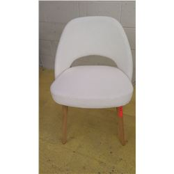 Knoll 72CW White Upholstered Open-Backed Chair
