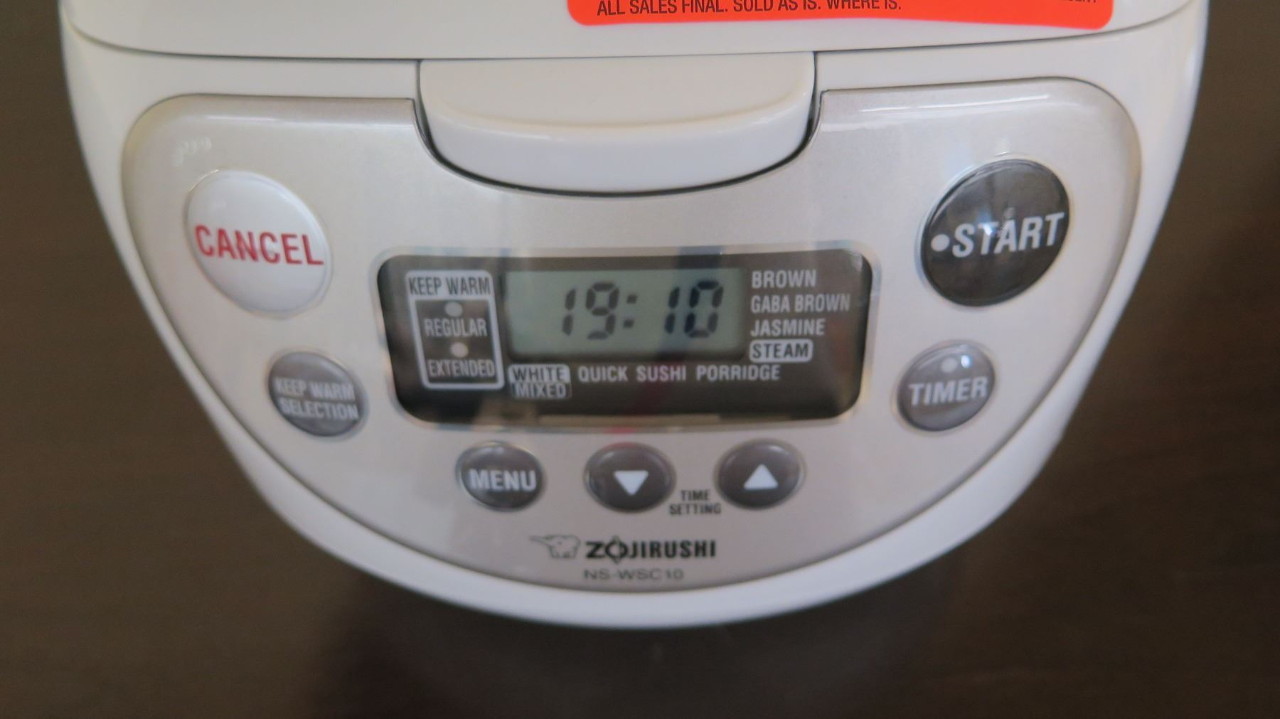 Zojirushi 5-Cup Rice Cooker/Warmer, Includes Power Cable - Oahu Auctions