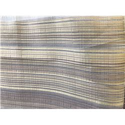 "Striped Drapes, Brown/Gold/Sheer, 2 Large Pieces (112"" H, 126"" W & 112"" H, 252"" W)"