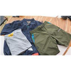 "Men's ""Fitted Brand"" Weather Resistant Jacket (L), T-Shirt (L), Shorts (S)"