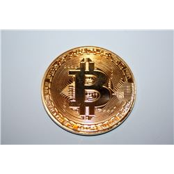Bitcoin Commemorative Round Collectors Coin 24K gold-plated
