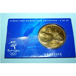 2000 SYDNEY OLYMPIC COIN COLLECTION (2 OF 28) AQUATICS