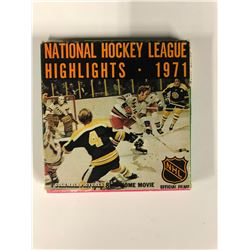1971 NATIONAL HOCKEY LEAGUE HIGHLIGHTS (8 MM HOME MOVIE)