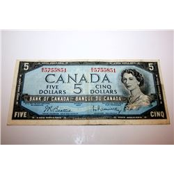 1954 CANADIAN $5 BANK NOTE