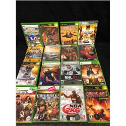 XBOX 360 & XBOX VIDEO GAME LOT