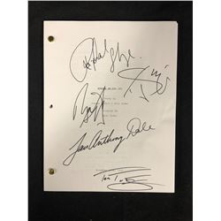 MURDER IN THE 1ST AUTOGRAPHED SCRIPT (IAN ANTHONY DALE,RAPHAEL SBARGE,TOM FELTON & MORE)