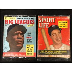 VINTAGE BIG LEAGUES & SPORT LIFE MAGAZINE LOT