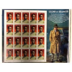 HUMPHREY BOGART USA 32 CENT STAMP LOT (LEGENDS OF HOLLYWOOD)