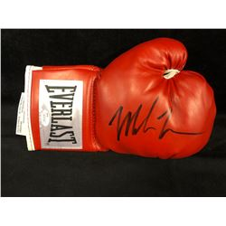 MIKE TYSON AUTOGRAPHED RED EVERLAST BOXING GLOVE W/ JSA COA
